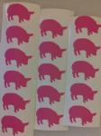 30 x  Pink pig stickers